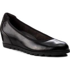 Półbuty TAMARIS - 1-22421-21 Black Leather 003. Szare półbuty damskie na koturnie marki Tamaris, z materiału. Za 249,90 zł.