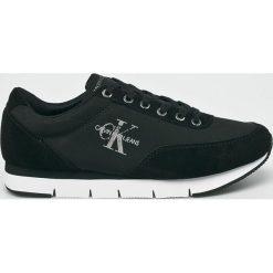 Calvin Klein Jeans - Buty. Czarne halówki męskie marki Calvin Klein Jeans, z gumy, na sznurówki. Za 499,90 zł.