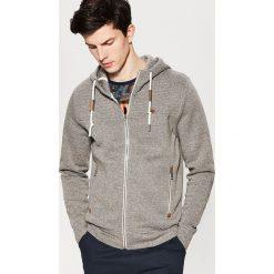 Bluzy męskie: Bluza z kapturem – Szary