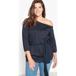Asymetryczna bluza. Szare bluzy damskie CASTALUNA, z elastanu, z długim rękawem, długie. Za 141,08 zł.