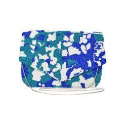 Kopertówki damskie: Kopertówka w kolorze niebiesko-białym – (S)25 x (W)17 x (G)1 cm
