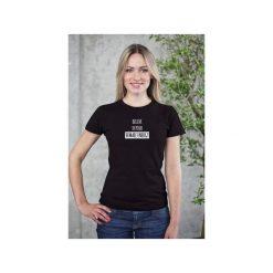 Believe in Your Female Energy t-shirt. Czarne t-shirty damskie Funfara, s, z bawełny. Za 89,00 zł.