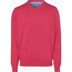 Fynch Hatton - Sweter męski, różowy. Czerwone swetry klasyczne męskie Fynch-Hatton, l, z bawełny. Za 249,95 zł.