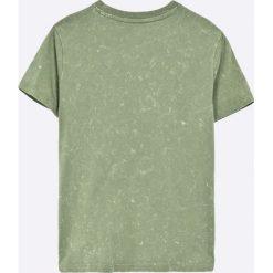 Guess Jeans - T-shirt dziecięcy 118-176 cm. Brązowe t-shirty chłopięce z nadrukiem Guess Jeans, l, z bawełny, z okrągłym kołnierzem. Za 129,90 zł.