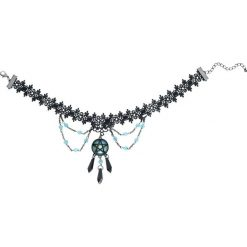 Naszyjniki damskie: Blackheart Lace Pentagram Choker Naszyjnik standard