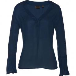 Bluzka bonprix ciemnoniebieski. Niebieskie bluzki asymetryczne bonprix, z długim rękawem. Za 74,99 zł.