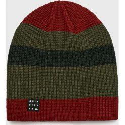 Quiksilver - Czapka. Brązowe czapki zimowe męskie Quiksilver, na zimę, z dzianiny. Za 99,90 zł.