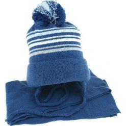 Czapka dziecięca z szalikiem CZ+S 018 B niebieska r. 46-50. Niebieskie czapeczki niemowlęce Proman. Za 45,25 zł.