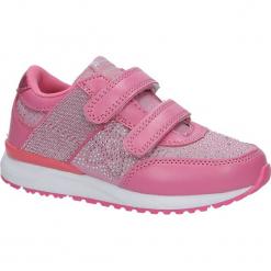 Różowe buty sportowe z cyrkoniami na rzepy American K17326. Czerwone buciki niemowlęce American, na rzepy. Za 69,99 zł.