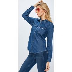 Levi's - Koszula. Brązowe koszule jeansowe damskie Levi's®, l, casualowe, z klasycznym kołnierzykiem, z długim rękawem. Za 299,90 zł.