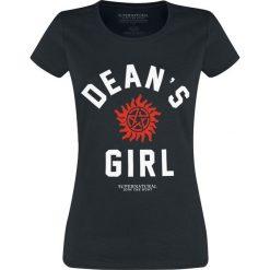 T-shirty damskie: Supernatural Dean's Girl Koszulka damska czarny