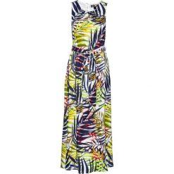 Długie sukienki: Długa sukienka z nadrukiem bonprix zielono-pomarańczowy z nadrukiem