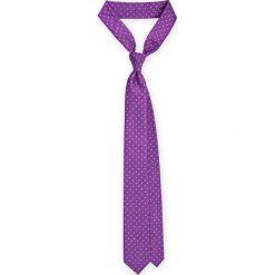 Krawat Fioletowy w kropki. Fioletowe krawaty męskie LANCERTO, w kropki, z mikrofibry, eleganckie. Za 79,90 zł.