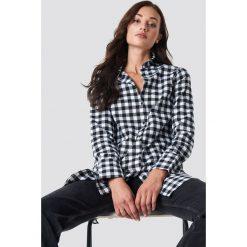 Rut&Circle Długa koszula w kratkę - Black,White,Multicolor. Zielone koszule damskie w kratkę marki Rut&Circle, z dzianiny, z okrągłym kołnierzem. Za 161,95 zł.