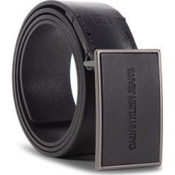 Pasek Męski CALVIN KLEIN - J Plaque Belt 4Cm K50K504326 001. Czarne paski męskie Calvin Klein, w paski, ze skóry. Za 229,00 zł.