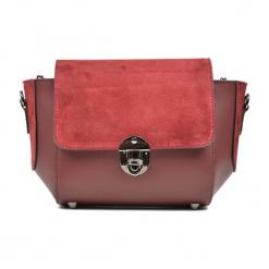 Skórzana torebka w kolorze czerwonym - (S)31 x (W)22 x (G)10 cm. Czerwone torebki klasyczne damskie Akcesoria na sylwestrową noc, z materiału. W wyprzedaży za 219,95 zł.