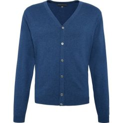 Finshley & Harding - Sweter męski – Pima-Cotton/Kaszmir, niebieski. Czarne swetry rozpinane męskie marki Finshley & Harding, w kratkę. Za 259,95 zł.