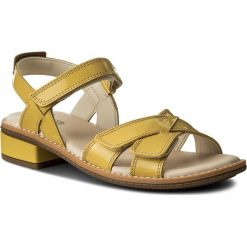 Sandały dziewczęce: Sandały CLARKS – Darcy Charm 261329336 Yellow Patent