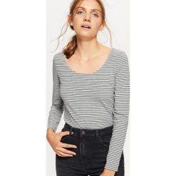 Bluzki, topy, tuniki: Koszulka z długim rękawem - Jasny szary