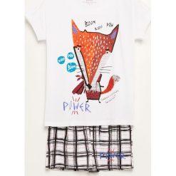 Piżama z szortami - Biały. Białe piżamy damskie marki Reserved, l. Za 59,99 zł.