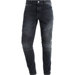 YOURTURN BIKER Jeansy Slim Fit blue denim. Niebieskie rurki męskie marki House, z jeansu. W wyprzedaży za 135,20 zł.