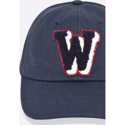 Wrangler - Czapka. Szare czapki z daszkiem męskie Wrangler, z bawełny. W wyprzedaży za 79,90 zł.