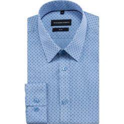 Koszula SIMONE slim KDNS000415. Niebieskie koszule męskie na spinki Giacomo Conti, m, z bawełny, z klasycznym kołnierzykiem. Za 149,00 zł.