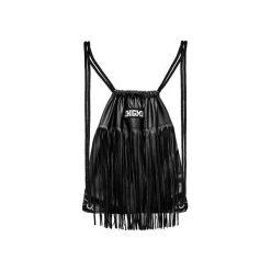 PLECAK WEST. Czarne plecaki damskie JUNGMOB, z aplikacjami, ze skóry. Za 139,00 zł.