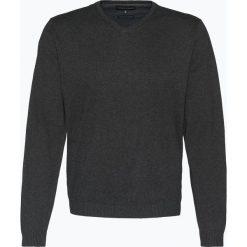 Finshley & Harding - Sweter męski z dodatkiem kaszmiru, szary. Czarne swetry klasyczne męskie marki Finshley & Harding, w kratkę. Za 179,95 zł.