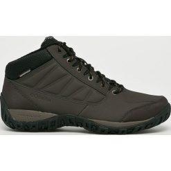 Columbia - Buty. Czarne buty trekkingowe męskie Columbia, z gumy, na sznurówki, outdoorowe, omni-heat (columbia). W wyprzedaży za 359,90 zł.