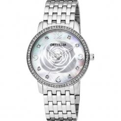 Zegarek kwarcowy w kolorze srebrno-perłowobiałym. Szare, analogowe zegarki damskie Esprit Watches, ze stali. W wyprzedaży za 204,95 zł.