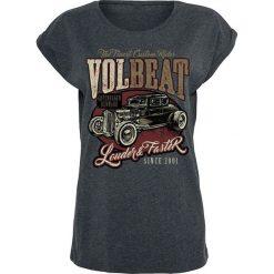 Bluzki damskie: Volbeat Louder And Faster Koszulka damska odcienie ciemnoszarego