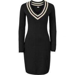 Sukienki hiszpanki: Sukienka dzianinowa bonprix czarno-kremowy