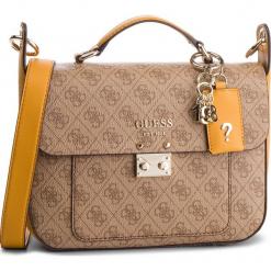 Torebka GUESS - HWSG71 74180 BRO MLT. Brązowe torebki klasyczne damskie Guess, z aplikacjami, ze skóry ekologicznej. Za 599,00 zł.