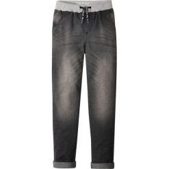 Miękkie dżinsy z wygodnym paskiem bonprix szary denim. Szare jeansy chłopięce marki La Redoute Collections, z standardowym stanem. Za 99,99 zł.
