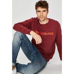 Calvin Klein Jeans - Bluza. Brązowe bluzy męskie rozpinane marki Calvin Klein Jeans, l, z nadrukiem, z bawełny, bez kaptura. Za 359,90 zł.