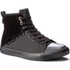 Trampki CALVIN KLEIN JEANS - Ajax S0495  Black/Black. Czarne tenisówki męskie Calvin Klein Jeans, z jeansu, za kostkę, na sznurówki. Za 509,90 zł.
