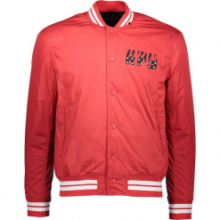 Kurtka w kolorze czerwonym. Niebieskie kurtki męskie marki GALVANNI, l, z okrągłym kołnierzem. W wyprzedaży za 217,95 zł.