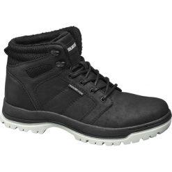 Trekkingowe buty męskie Highland Creek czarne. Czarne buty trekkingowe męskie Highland Creek, z materiału, na sznurówki. Za 139,90 zł.