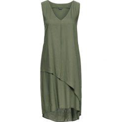 Sukienki asymetryczne: Sukienka asymetryczna bonprix oliwkowy