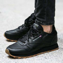 Buty Reebok Classic Leather (49804). Czarne buty sportowe damskie reebok classic Reebok, z materiału. Za 159,99 zł.