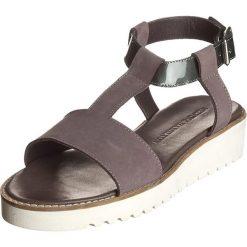 """Rzymianki damskie: Skórzane sandały """"Celia"""" w kolorze szarym"""