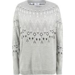Sweter bonprix jasnoszary melanż wzorzysty. Szare swetry klasyczne damskie bonprix. Za 99,99 zł.