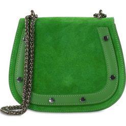 """Torebki klasyczne damskie: Skórzana torebka """"Amparo"""" w kolorze zielonym – 20 x 17 x 8 cm"""