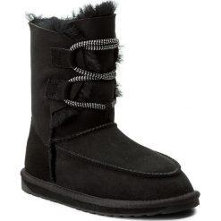 Buty EMU AUSTRALIA - Lebrina W11556 Black. Czarne buty zimowe damskie marki EMU Australia, ze skóry, na niskim obcasie. W wyprzedaży za 439,00 zł.