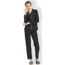 Piżamy damskie: Damska włoska piżama Hearts Black