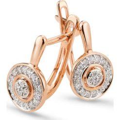 Kolczyki damskie: PROMOCJA Złote Kolczyki - złoto różowe 585, Brylant 0,15ct