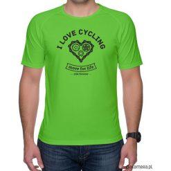 Koszulka sportowa. I love cycling. Zielone koszulki sportowe męskie marki QUECHUA, m, z elastanu. Za 75,00 zł.