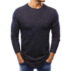 Swetry klasyczne męskie: Sweter męski granatowy (wx0990)