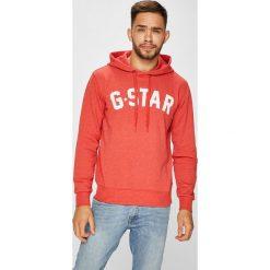 G-Star Raw - Bluza. Różowe bluzy męskie rozpinane G-Star RAW, m, z nadrukiem, z bawełny, z kapturem. Za 419,90 zł.